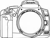 Camera Coloring Clipart Nikon Line Clip Slr Dslr Cliparts Drawing Sketch Colouring Google Silhouette Cameras Hollywood Kamera Transparent Library Outline sketch template