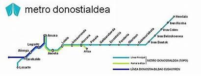 Metro Donostialdea Plano Esquema Euskotren Wikipedia Conocida
