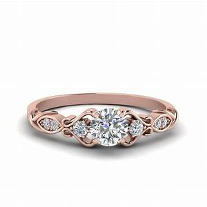 Victorian style round cut diamond wedding engagement ring for In style wedding rings