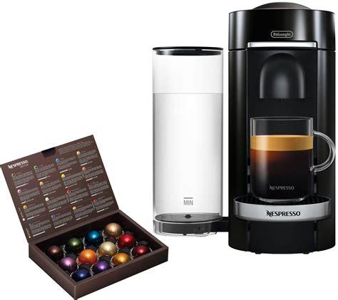 capsule nespresso vertuo nespresso vertuo plus deluxe coffee machine bydelonghi qvc