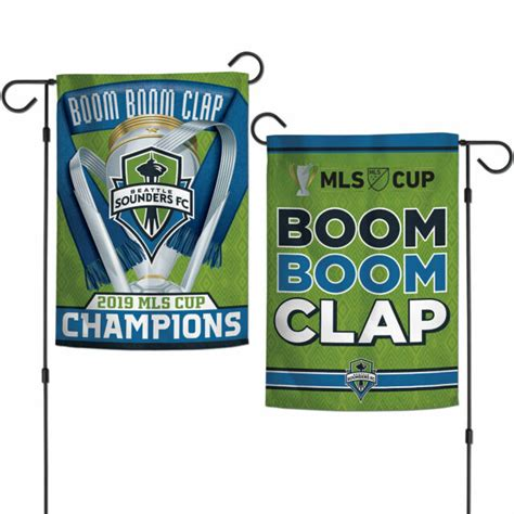 Seattle Sounders Garden Flag 2019 MLS Cup Champions 2 ...