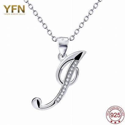 Necklace Silver Pendant Letter Initial Jewelry Sterling