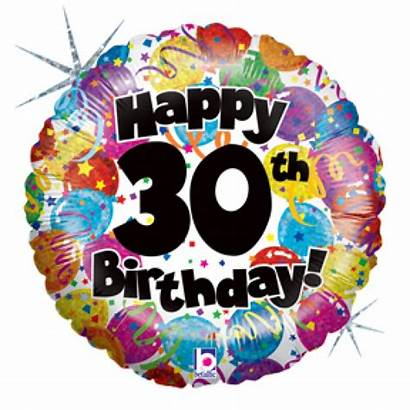 30th Birthday Clipart Party Balloons Clip Cliparts
