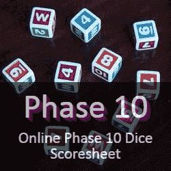 dice game score sheets