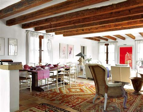 Wood Beams and Jewel Tones: A Rustic House ? Adorable Home