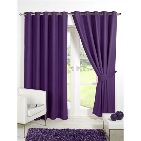 Plum And Bow Blackout Curtains by Dreamscene Blackout Eyelet Curtains Plum Iwoot