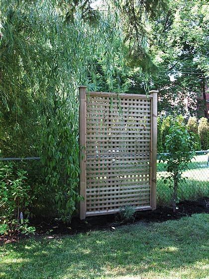 Backyard Privacy Screens Trellis by Privacy Screen Project Reveal Lindsay Stephenson