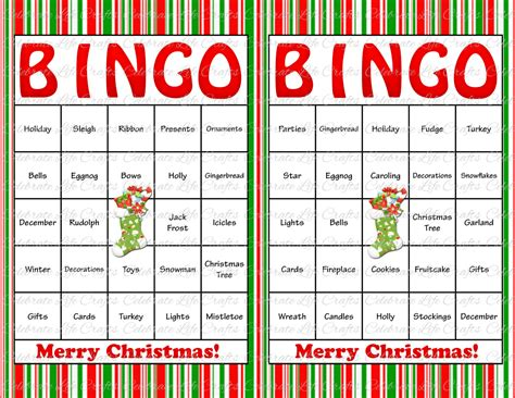 items similar to 30 christmas bingo cards diy printable