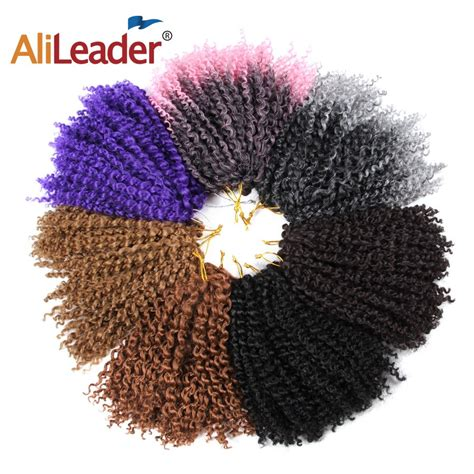 Alileader Small Curly Braiding Hair Synthetic 8 Inch Ombre