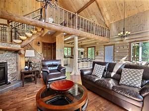 aigle noir au chalet en bois rond chalets With exceptional maison en bois quebec 1 au chalet en bois rond chalets quebec ville et region