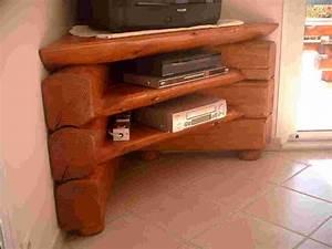 Meuble Angle Bois : faire meuble tv angle solutions pour la d coration ~ Edinachiropracticcenter.com Idées de Décoration