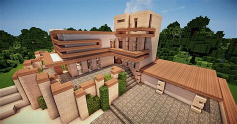 finished   modern house cool minecraft