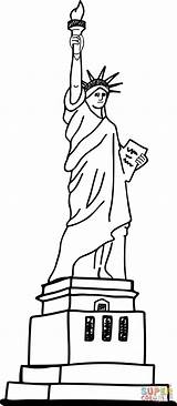 Liberty Statue Coloring Printable Supercoloring sketch template