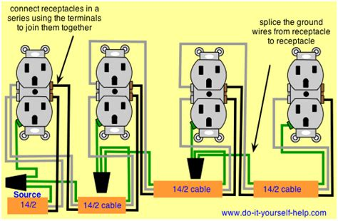 Wiring Diagram For Series Receptacles Electrical