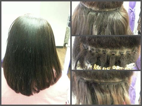 Hairstyles For Sew In Tracks by Partial Micro Link Sew In Silicon Coated Bead Which Allows