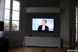 Meuble Tv Accroché Au Mur : support mural tv ba13 ~ Preciouscoupons.com Idées de Décoration
