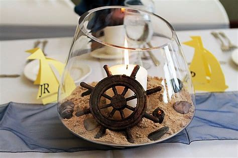 Diy Nautical Centerpiece Its Easy And Cute Love The Helm