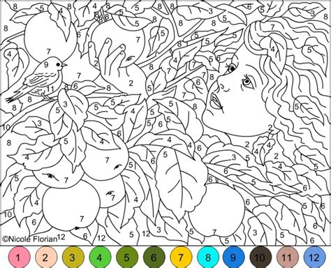 Get This Difficult Color By Number Pages For Grown Ups Hl82t
