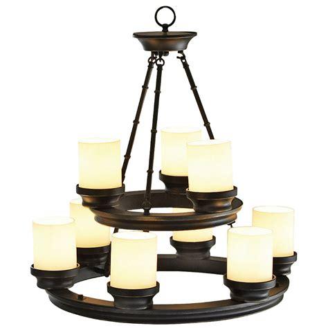 lighting at lowes shop portfolio 9 light rubbed bronze chandelier at