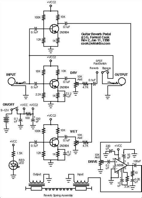 guitar reverb pedal project  musical effects