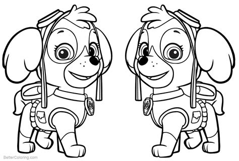 PAW Patrol Coloring Pages Skye Free Printable Coloring Pages