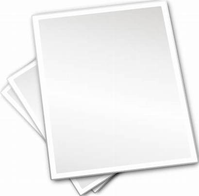 Paper Sheets Plain Printing Clip Clipart Clker