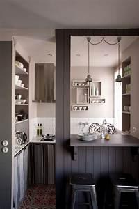 Petit Bar Cuisine : petite cuisine quip e id es et conseils pour gagner de la place en cuisine c t maison ~ Teatrodelosmanantiales.com Idées de Décoration