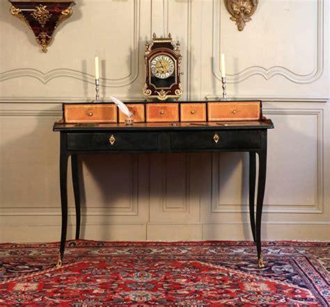 bureau à gradin bureau à gradin bois noirci et bronze fin régence bureaux