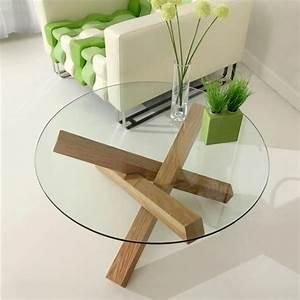 Pied De Table Basse Design : table basse en verre et bois ~ Preciouscoupons.com Idées de Décoration