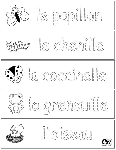 spring printouts french french for kids www chillola
