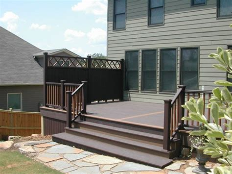 deck privacy fencing ideas this trex deck and trex