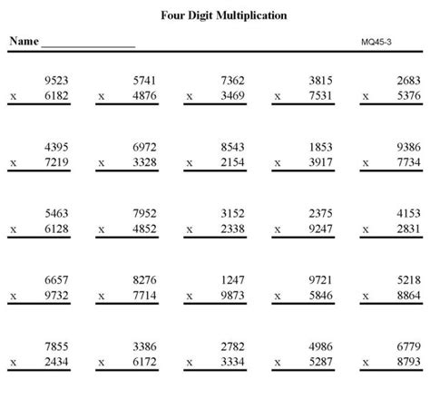images   digit math worksheets  digit