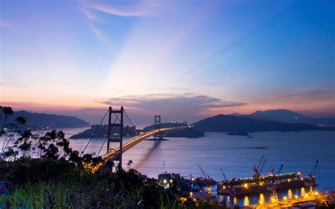 nature landscape hong kong city night wallpapers hd desktop  mobile backgrounds