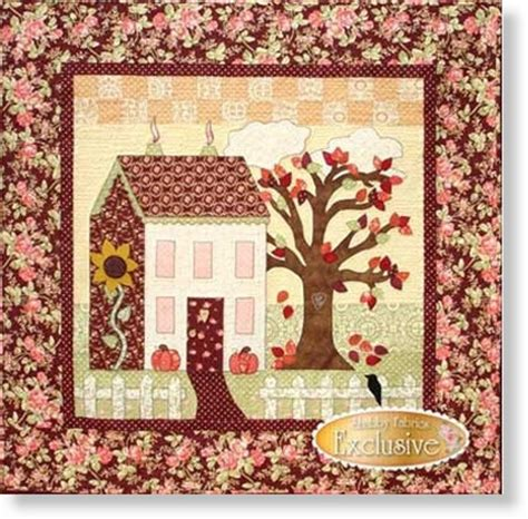 shabby fabrics sweetheart houses little garden house in autumn quilt pattern by shabby fabrics