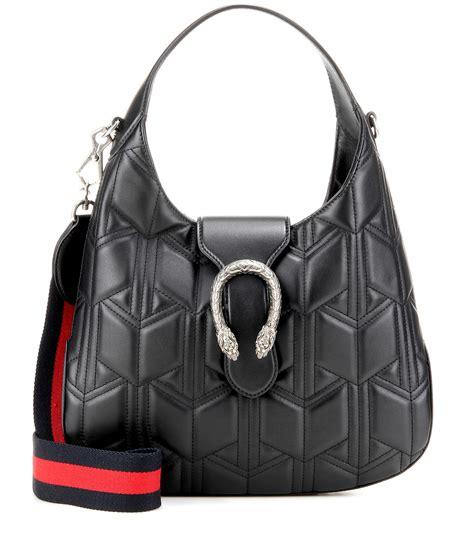 lyst gucci dionysus matelasse leather hobo shoulder bag  black