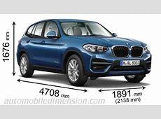 Dimensions BMW X3 2017, coffre et intérieur