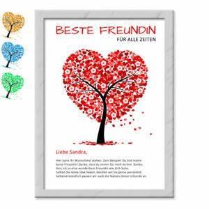 Geschenk Gute Freundin : geschenk beste freundin freund mit namen wunschtext danke sagen ich liebe dich ebay ~ Orissabook.com Haus und Dekorationen