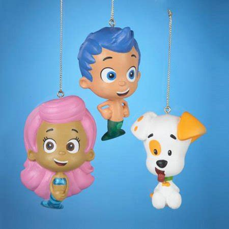 bubble guppies christmas ornaments pack of 24 guppies gil molly and puppy ornaments 2 5 quot decor