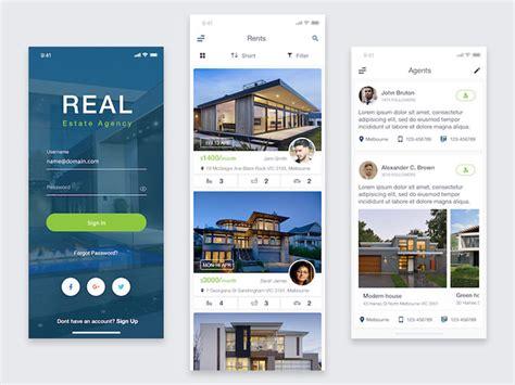 real estate web mobile app ui designs bashooka
