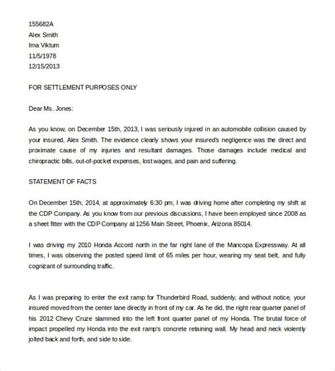 Demand Letter Template Demand Letter To Insurance Company Articleezinedirectory