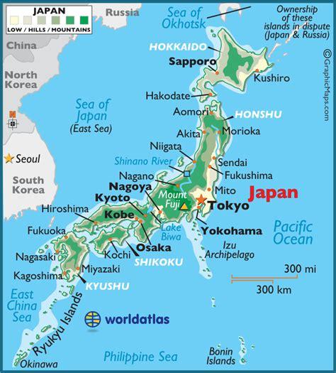 japan large color map