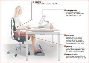 bonne position au bureau quelle position adopter à bureau conseils d