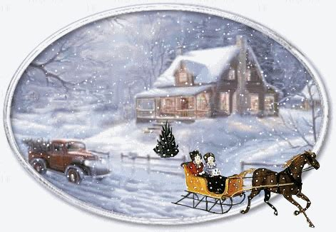 Animated Christmas Snow Winter Scenes