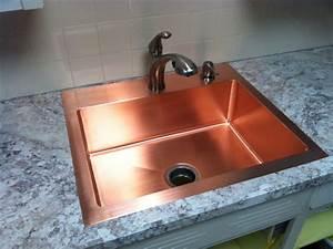 Hand Made Drop In Copper Kitchen Sink by Kutz Fine