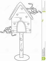Coloring Bird Casa Pagina Vogels Farbtonseite Haus Vogel Kleurende Coloritura Uccello Huis Dell Della Het Useful sketch template