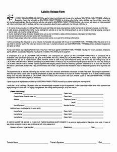 fitness waiver and release form template With fitness waiver and release form template