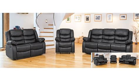 2 Leather Sofa Set by Leather Sofa Recliner 1 Armchair 2 Seater Sofa 3 Seater Sofa