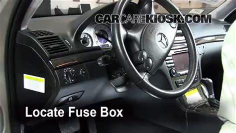 mercedes benz  interior fuse check