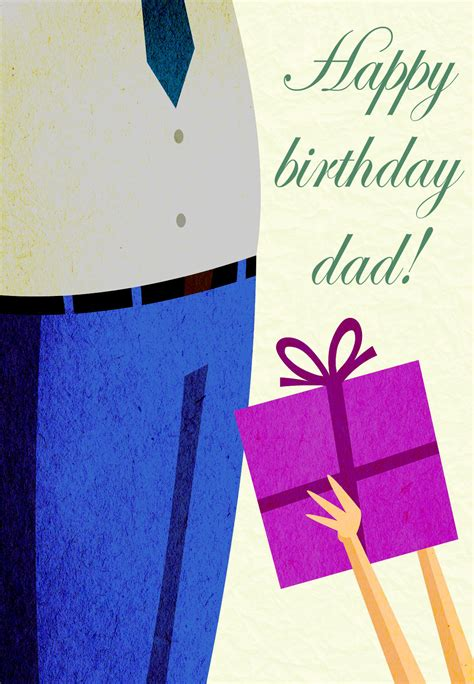 happy birthday dad  birthday card  island