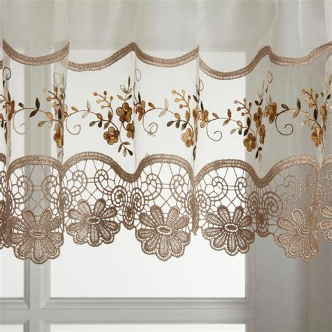 HCI Curtain Vintage Embroidered Kitchen Curtain Window